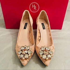 Dolce & Gabbana Belluci Taormina Lace Kitten Heels